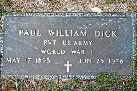 DICK, PAUL WILLIAM - Richland County, Ohio   PAUL WILLIAM DICK - Ohio Gravestone Photos