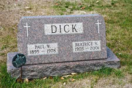 DICK, BEATRICE V - Richland County, Ohio | BEATRICE V DICK - Ohio Gravestone Photos