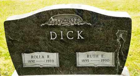 DICK, ROLLA R - Richland County, Ohio | ROLLA R DICK - Ohio Gravestone Photos