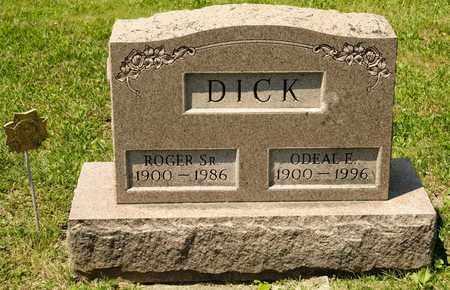 DICK, ODEAL E - Richland County, Ohio | ODEAL E DICK - Ohio Gravestone Photos