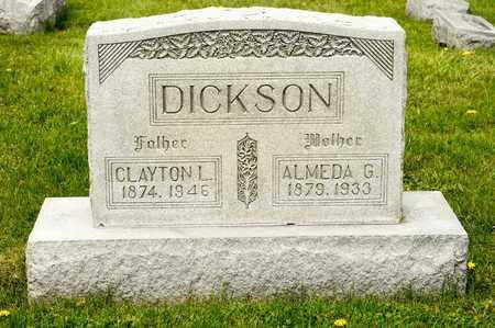 DICKSON, ALMEDA G - Richland County, Ohio   ALMEDA G DICKSON - Ohio Gravestone Photos