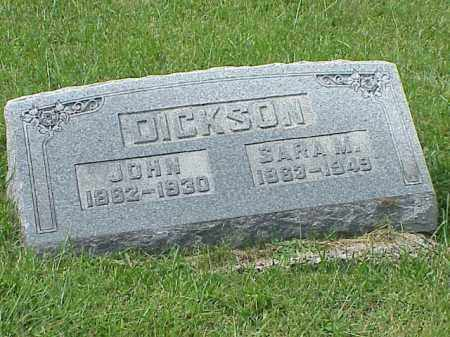 DICKSON, SARA M. - Richland County, Ohio | SARA M. DICKSON - Ohio Gravestone Photos