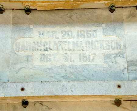 DICKSON, SARAH CLARELMA - Richland County, Ohio   SARAH CLARELMA DICKSON - Ohio Gravestone Photos
