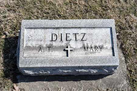 DIETZ, ANDREW T - Richland County, Ohio | ANDREW T DIETZ - Ohio Gravestone Photos