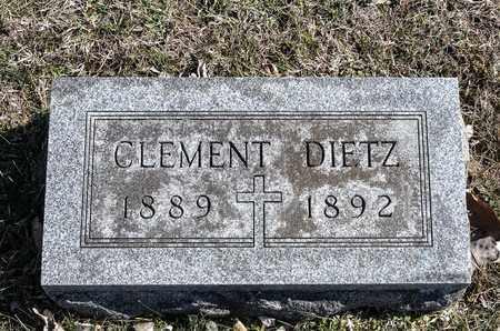 DIETZ, CLEMENT - Richland County, Ohio   CLEMENT DIETZ - Ohio Gravestone Photos