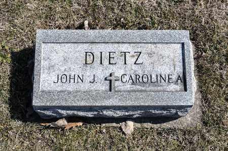 DIETZ, CAROLINE A - Richland County, Ohio | CAROLINE A DIETZ - Ohio Gravestone Photos