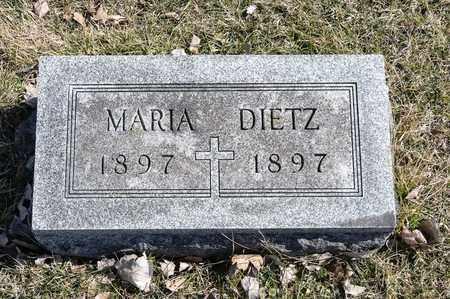 DIETZ, MARIA - Richland County, Ohio | MARIA DIETZ - Ohio Gravestone Photos