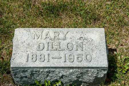 DILLON, MARY A - Richland County, Ohio | MARY A DILLON - Ohio Gravestone Photos