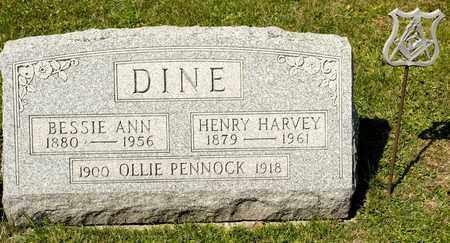 DINE, BESSIE ANN - Richland County, Ohio   BESSIE ANN DINE - Ohio Gravestone Photos
