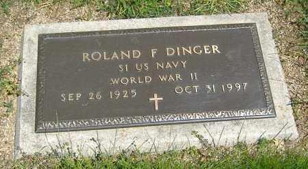 DINGER, ROLAND F. - Richland County, Ohio | ROLAND F. DINGER - Ohio Gravestone Photos