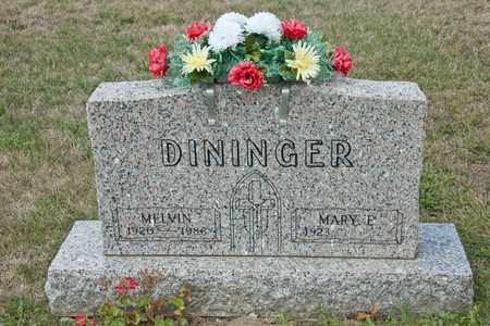 DININGER, MELVIN - Richland County, Ohio | MELVIN DININGER - Ohio Gravestone Photos