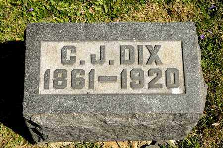 DIX, C J - Richland County, Ohio | C J DIX - Ohio Gravestone Photos