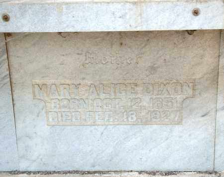 DIXON, MARY ALICE - Richland County, Ohio | MARY ALICE DIXON - Ohio Gravestone Photos