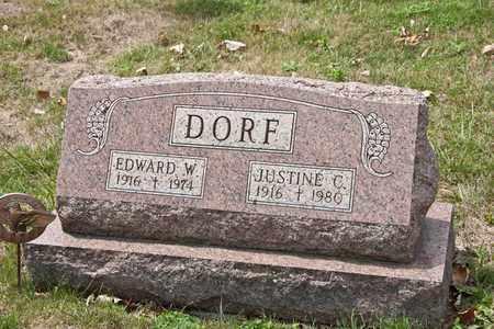 DORF, JUSTINE C - Richland County, Ohio   JUSTINE C DORF - Ohio Gravestone Photos