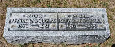 DOUGLAS, ARVINE W - Richland County, Ohio | ARVINE W DOUGLAS - Ohio Gravestone Photos