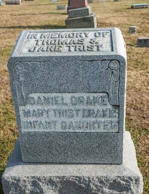 TRIST DRAKE, MARY - Richland County, Ohio | MARY TRIST DRAKE - Ohio Gravestone Photos