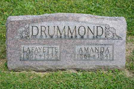 DRUMMOND, LAFAYETTE - Richland County, Ohio | LAFAYETTE DRUMMOND - Ohio Gravestone Photos