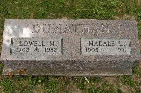 DUNATHAN, LOWELL M - Richland County, Ohio | LOWELL M DUNATHAN - Ohio Gravestone Photos