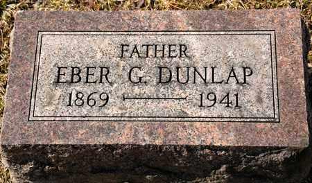 DUNLAP, EBER G - Richland County, Ohio | EBER G DUNLAP - Ohio Gravestone Photos