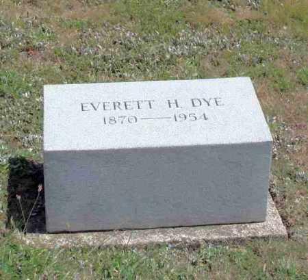 DYE, EVERETT H - Richland County, Ohio   EVERETT H DYE - Ohio Gravestone Photos