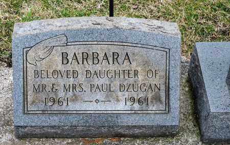 DZUGAN, BARBARA - Richland County, Ohio   BARBARA DZUGAN - Ohio Gravestone Photos
