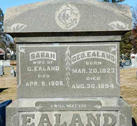 EALAND, GEORGE - Richland County, Ohio | GEORGE EALAND - Ohio Gravestone Photos