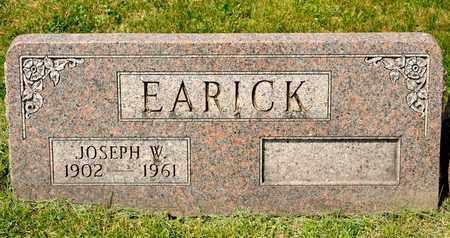 EARICK, JOSEPH W - Richland County, Ohio   JOSEPH W EARICK - Ohio Gravestone Photos