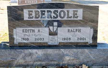 EBERSOLE, EDITH A - Richland County, Ohio | EDITH A EBERSOLE - Ohio Gravestone Photos