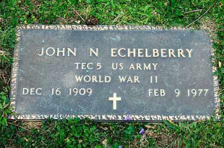 ECHELBERRY, JOHN N - Richland County, Ohio | JOHN N ECHELBERRY - Ohio Gravestone Photos