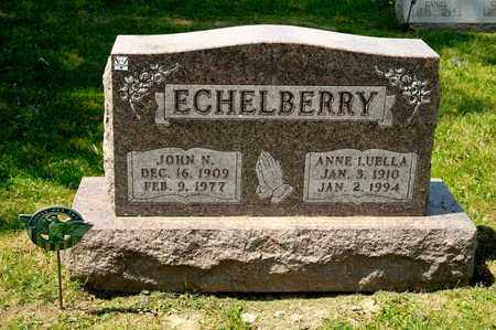 ECHELBERRY, JOHN N - Richland County, Ohio | JOHN N ECHELBERRY - Ohio Gravestone Photos