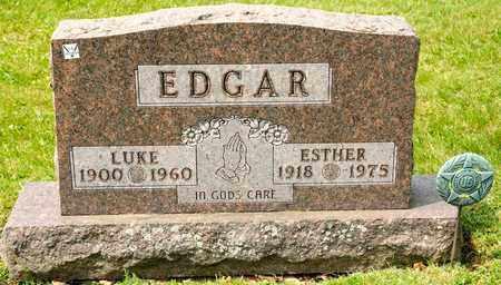 EDGAR, LUKE - Richland County, Ohio   LUKE EDGAR - Ohio Gravestone Photos