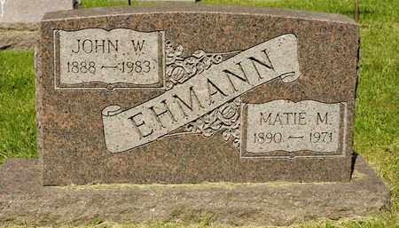 EHMANN, JOHN W - Richland County, Ohio | JOHN W EHMANN - Ohio Gravestone Photos