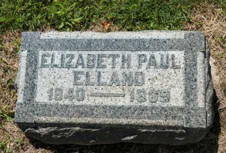 PAUL ELLAND, ELIZABETH - Richland County, Ohio | ELIZABETH PAUL ELLAND - Ohio Gravestone Photos