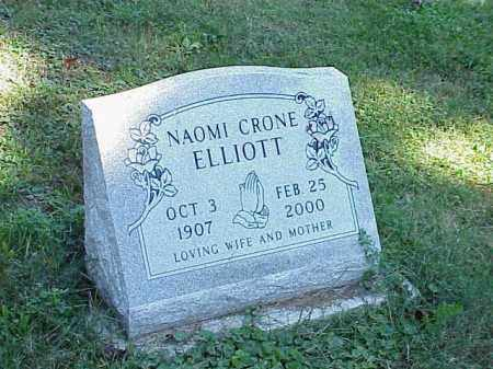 ELLIOTT, NAOMI CRONE - Richland County, Ohio | NAOMI CRONE ELLIOTT - Ohio Gravestone Photos