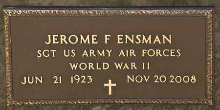 ENSMAN, JEROME F - Richland County, Ohio | JEROME F ENSMAN - Ohio Gravestone Photos