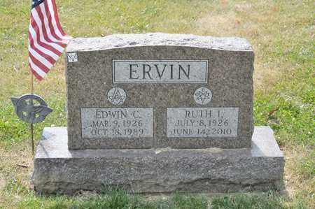 ERVIN, EDWIN C - Richland County, Ohio | EDWIN C ERVIN - Ohio Gravestone Photos