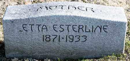 ESTERLINE, ETTA - Richland County, Ohio | ETTA ESTERLINE - Ohio Gravestone Photos