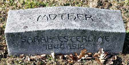 ESTERLINE, SARAH - Richland County, Ohio | SARAH ESTERLINE - Ohio Gravestone Photos