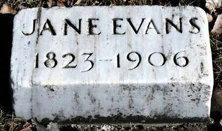 EVANS, JANE - Richland County, Ohio | JANE EVANS - Ohio Gravestone Photos