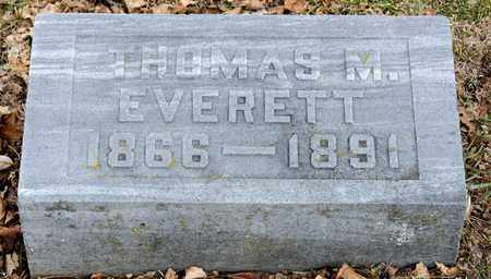 EVERETT, THOMAS M - Richland County, Ohio | THOMAS M EVERETT - Ohio Gravestone Photos