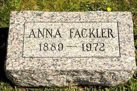 FACKLER, ANNA - Richland County, Ohio | ANNA FACKLER - Ohio Gravestone Photos