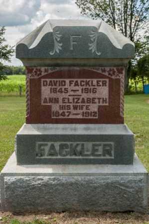 FACKLER, DAVID - Richland County, Ohio | DAVID FACKLER - Ohio Gravestone Photos