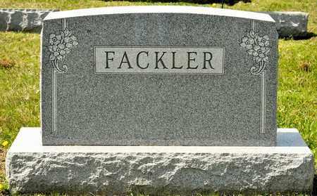 FACKLER, PORTER - Richland County, Ohio | PORTER FACKLER - Ohio Gravestone Photos