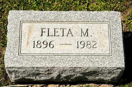 FACKLER, FLETA M - Richland County, Ohio | FLETA M FACKLER - Ohio Gravestone Photos