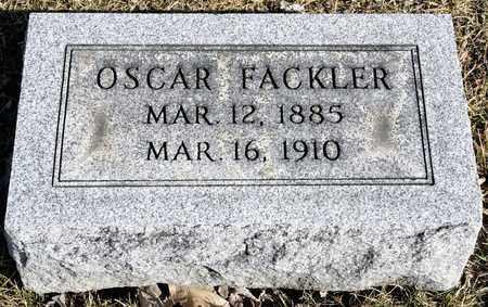 FACKLER, OSCAR - Richland County, Ohio | OSCAR FACKLER - Ohio Gravestone Photos