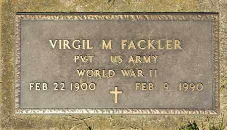 FACKLER, VIRGIL M - Richland County, Ohio | VIRGIL M FACKLER - Ohio Gravestone Photos