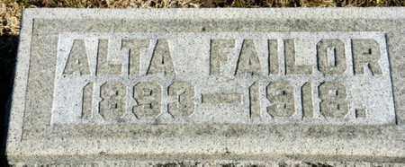 FAILOR, ALTA - Richland County, Ohio | ALTA FAILOR - Ohio Gravestone Photos