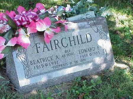 FAIRCHILD, BEATRICE A. - Richland County, Ohio | BEATRICE A. FAIRCHILD - Ohio Gravestone Photos