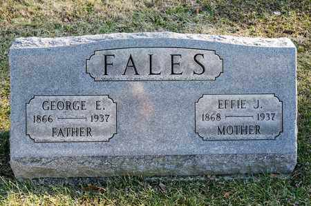 FALES, EFFIE J - Richland County, Ohio | EFFIE J FALES - Ohio Gravestone Photos