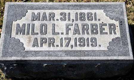 FARBER, MILO L - Richland County, Ohio | MILO L FARBER - Ohio Gravestone Photos